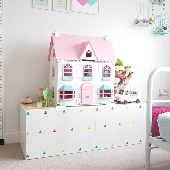diy toy storage solution for a kids space