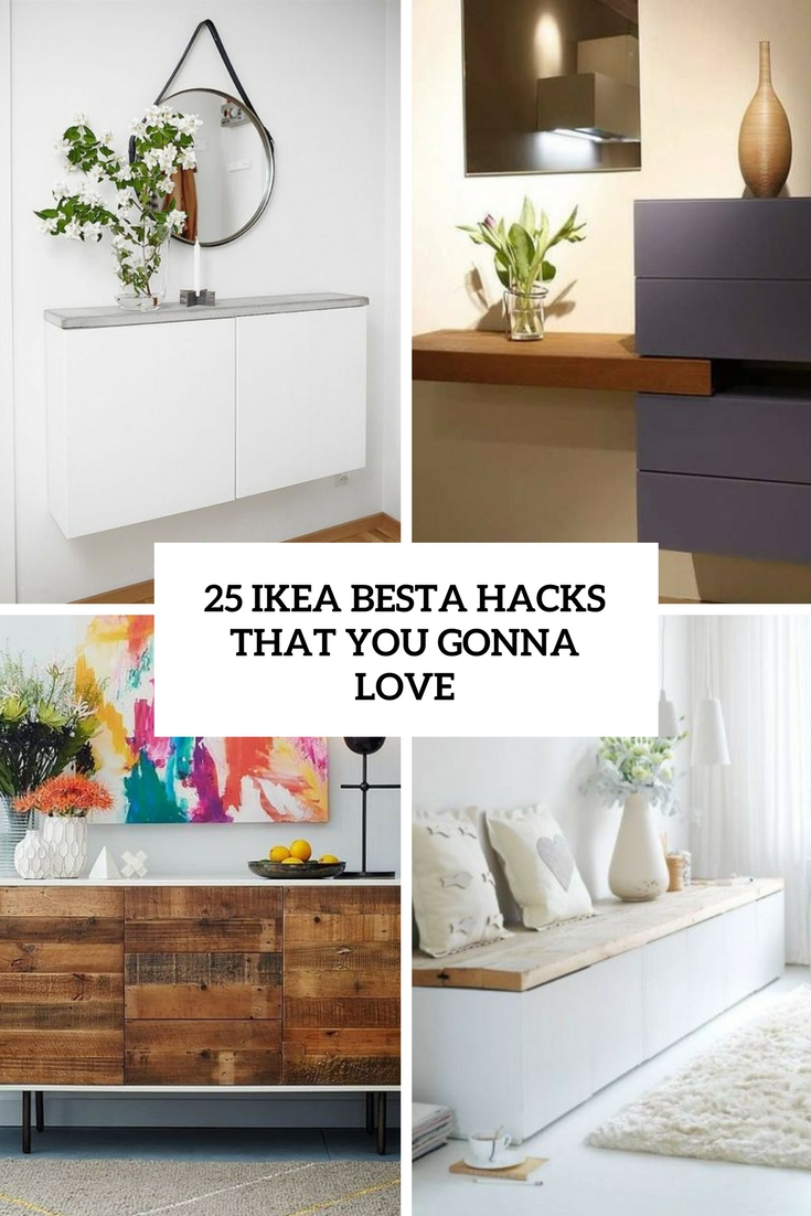 25 ikea besta hacks that you gonna love shelterness. Black Bedroom Furniture Sets. Home Design Ideas