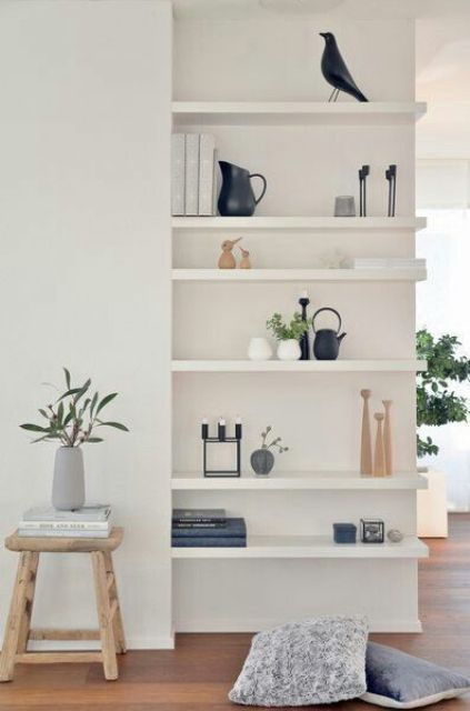 build in some Lack shelves into the wall if you ned more storage space than you have