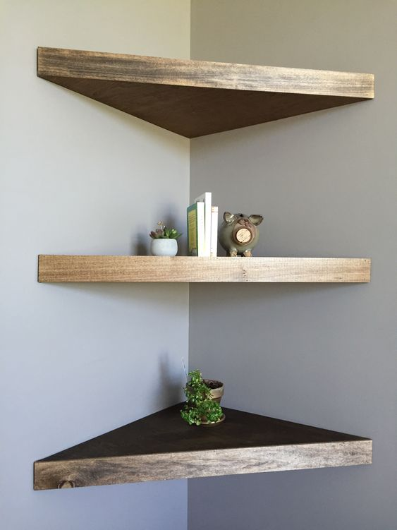comfy strained corner shelf made of IKEA Lack ones are perfect for tiny spaces