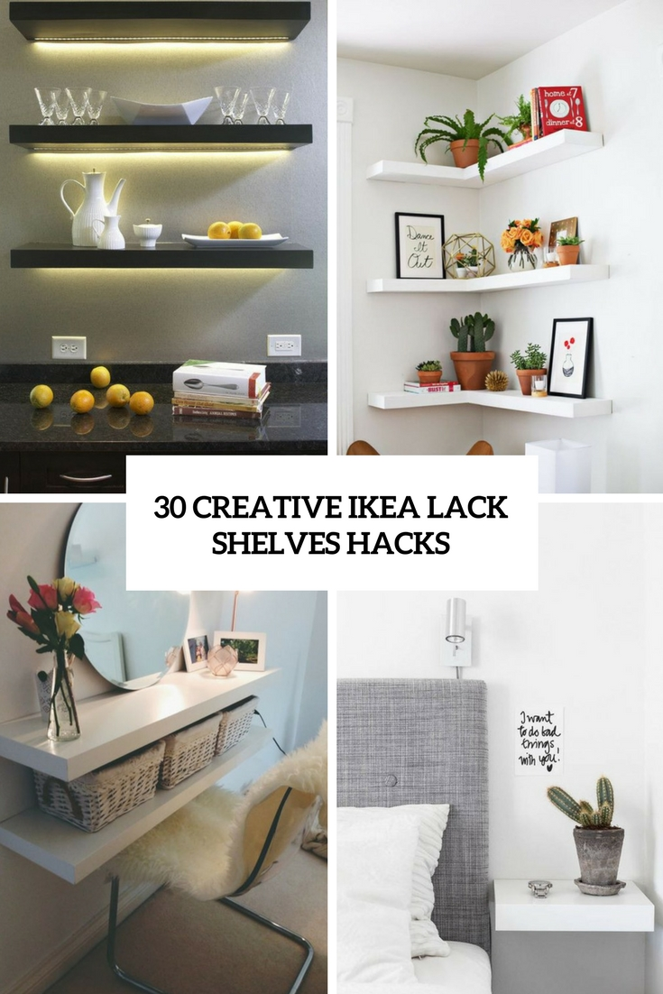 creative ikea lack shelves hacks cover