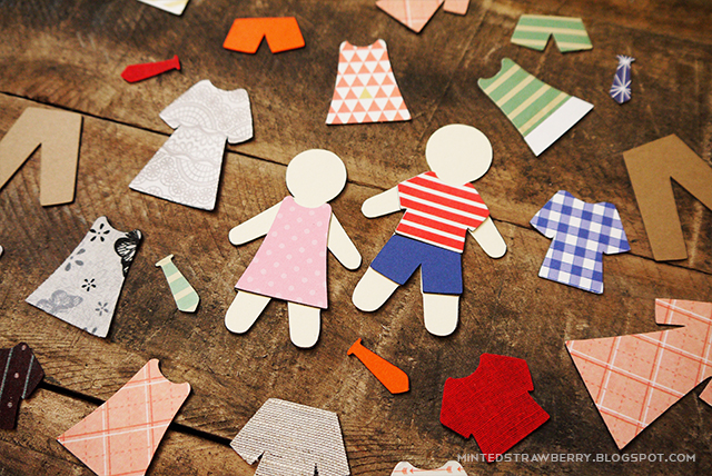DIY dress up activity magnets