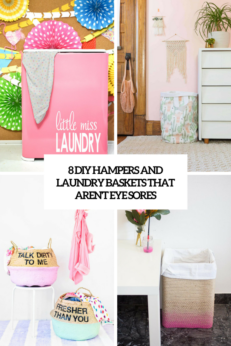 8 DIY Hampers And Laundry Baskets That Aren't Eye Sores