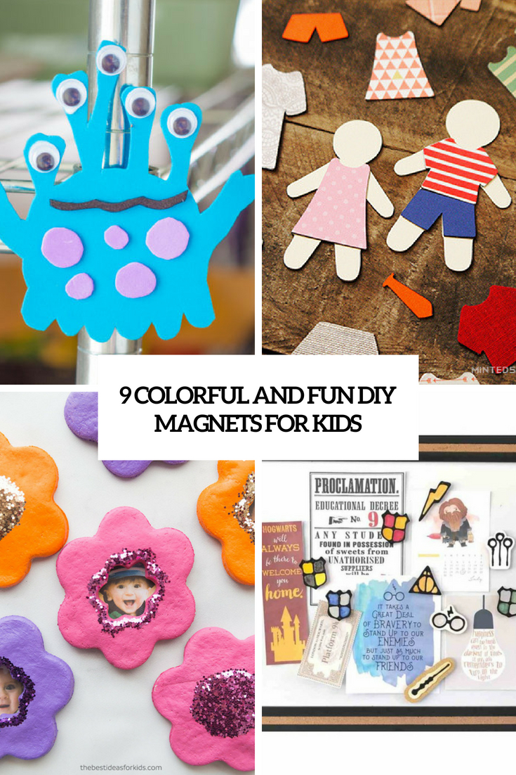 9 Colorful And Fun DIY Magnets For Kids