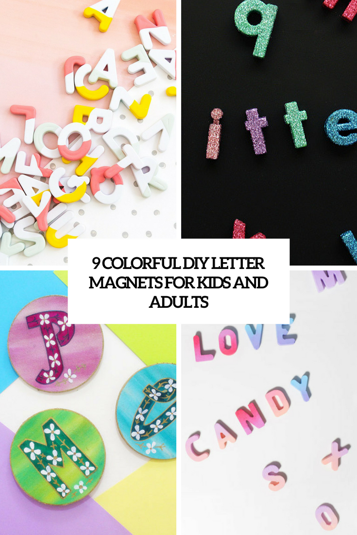 9 colorful diy letter magnets for kids and adults cover