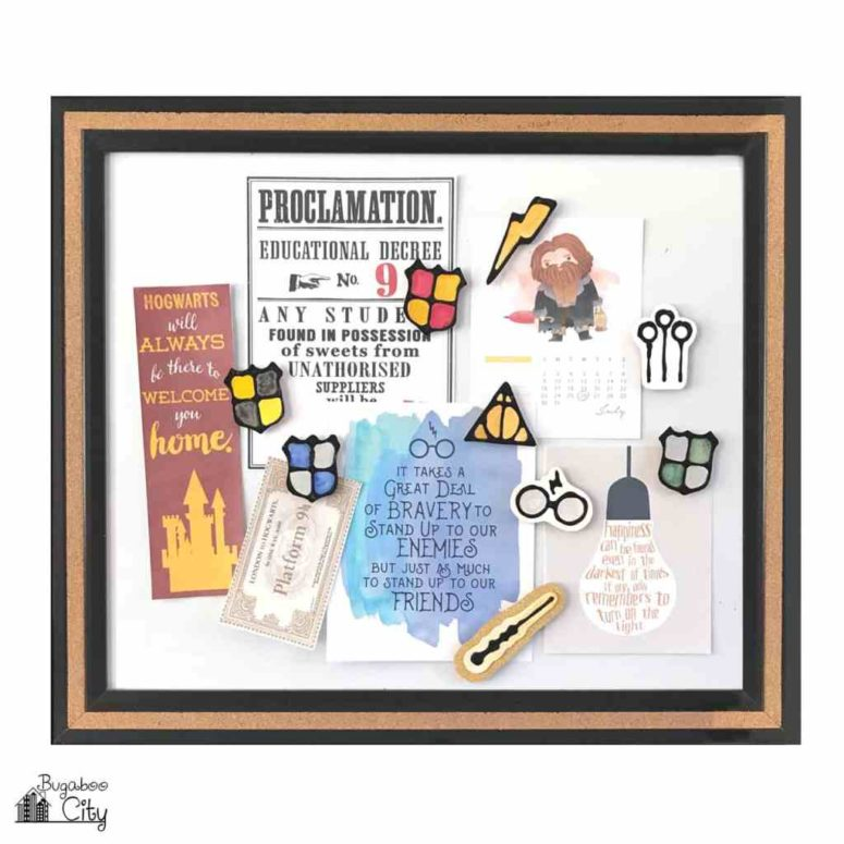 DIY Harry Potter themed magnets (via www.bugaboocity.com)