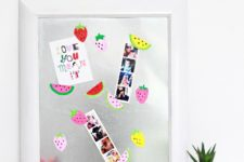 DIY colorful fruity magnets