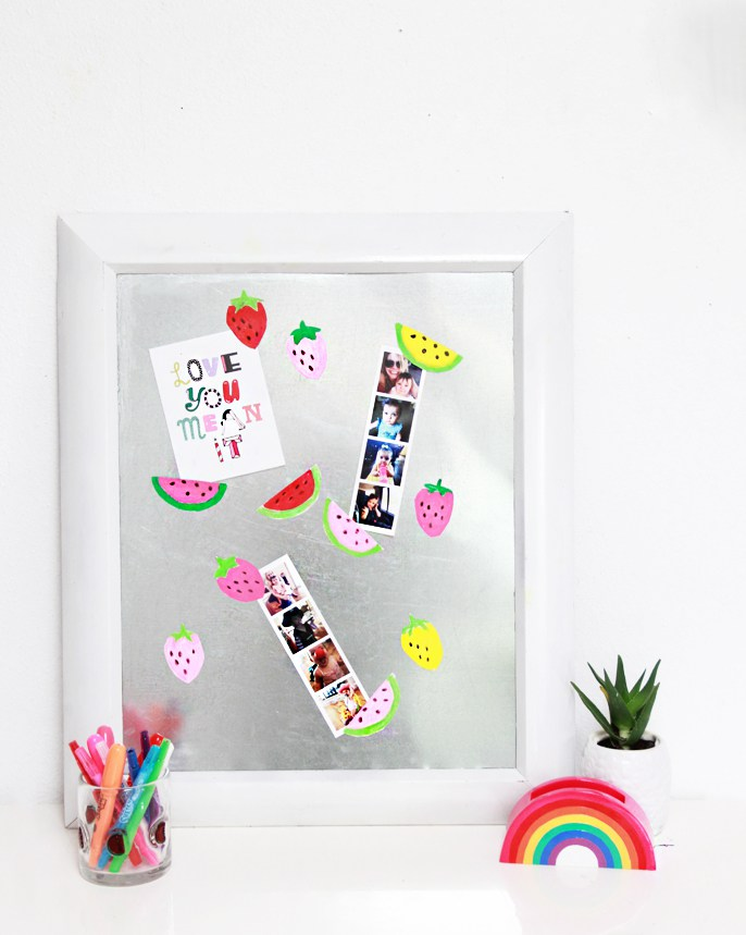 DIY colorful fruity magnets (via abubblylife.com)