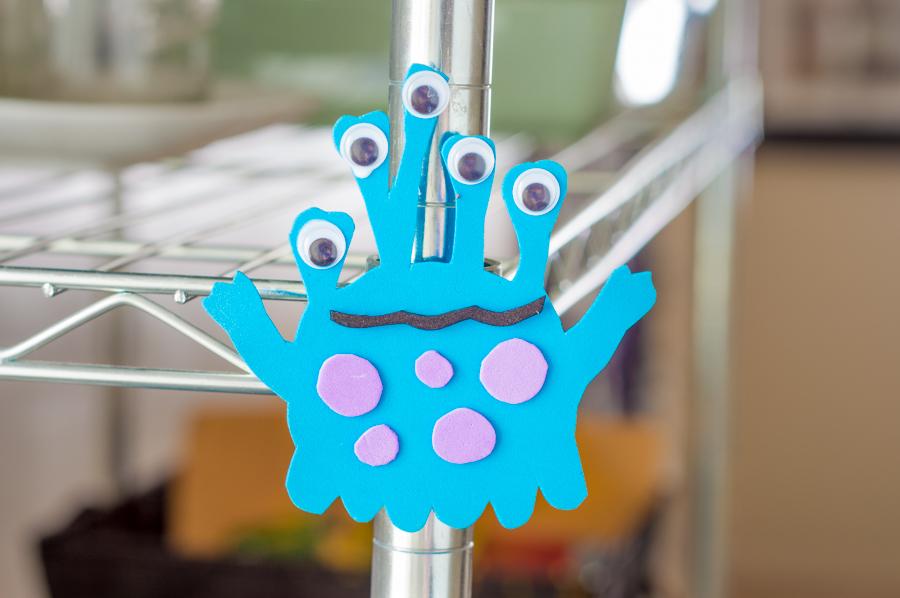 DIY colorful foam monster magnets