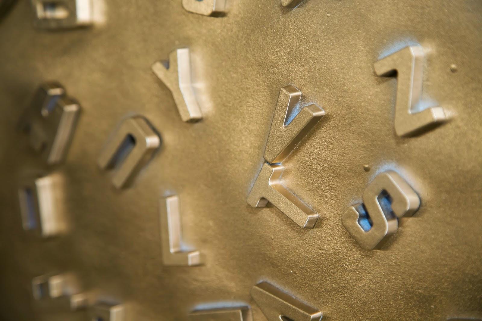 DIY metallic letter magnets