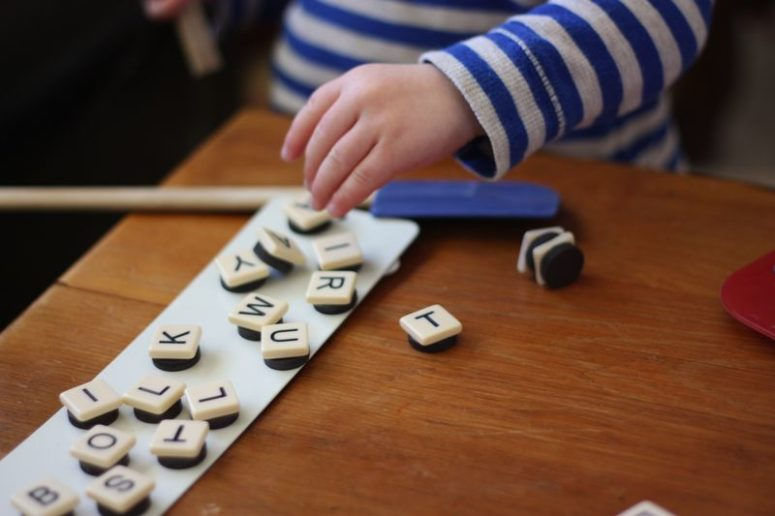 DIY magnetic alphabetic magnets (via buzzmills.typepad.com)
