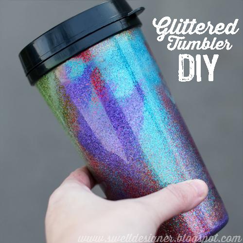 DIY ombre glitter tumbler (via www.theswelldesigner.com)