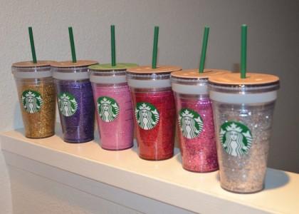 DIY glitter decorated Starbucks tumbler (via www.recreation.ubc.ca)