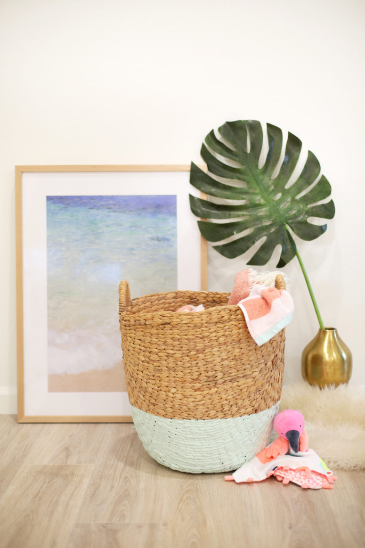 DIY dipped laundry basket (via lovelyindeed.com)