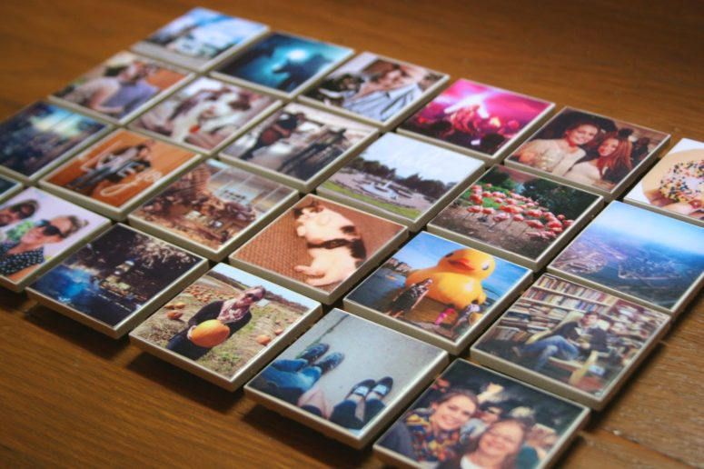 DIY Instagram tile magnets (via www.thesurznickcommonroom.com)