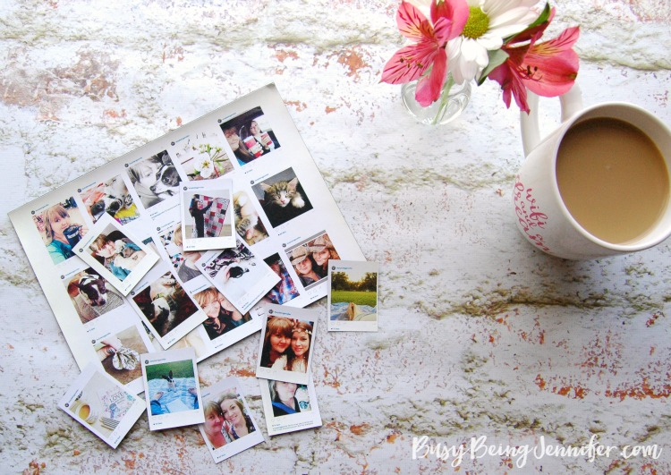 DIY mini Instagram magnets