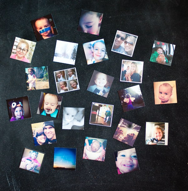 DIY mini Instagram magnets for 14 cents each
