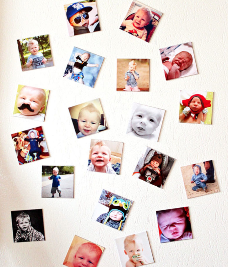 DIY personalized Instagram photo magnets (via www.hometalk.com)
