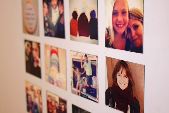 DIY Instagram fridge magnets using sticky magnet sheets (via www.shedoesthecity.com)