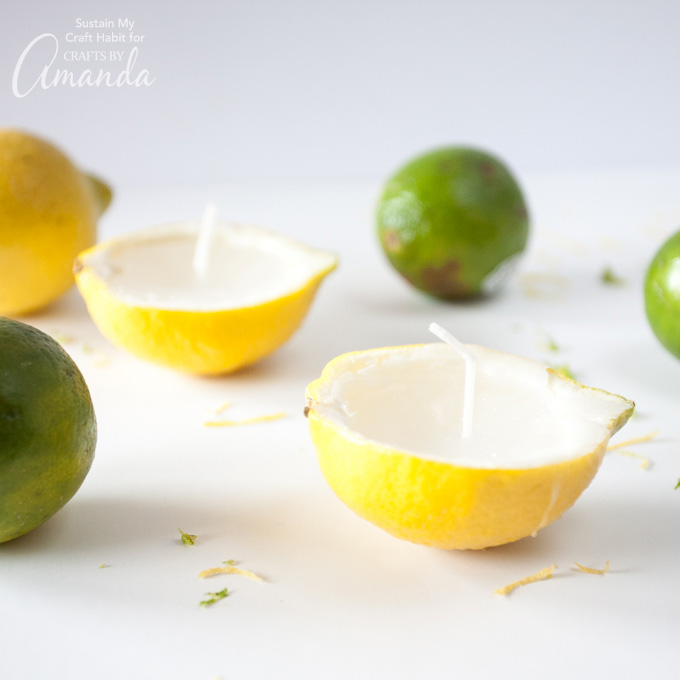 DIY lemon lime beeswax candles (via craftsbyamanda.com)