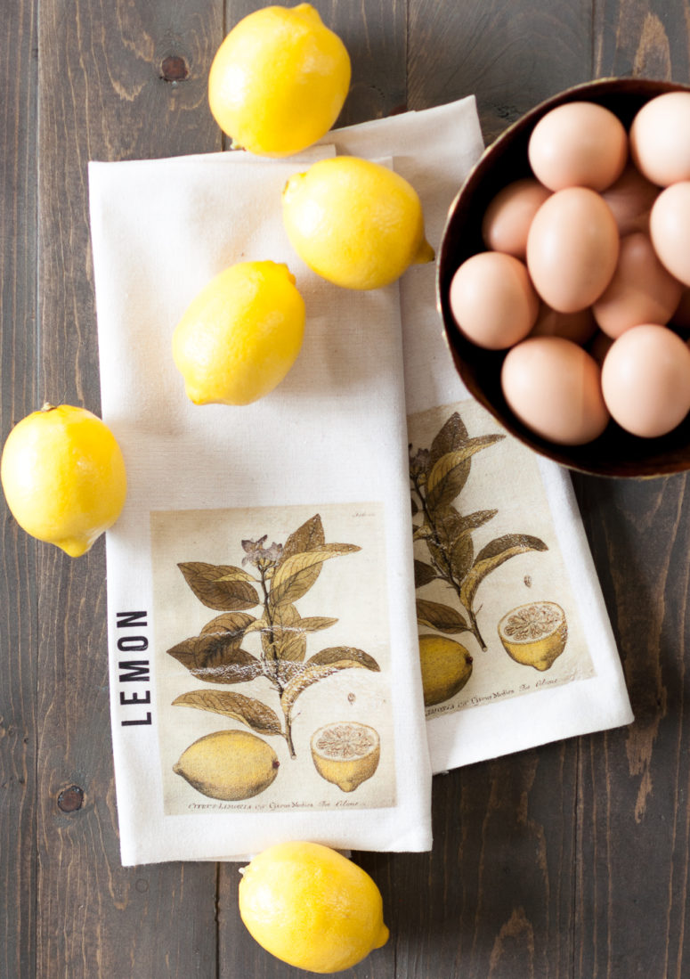 DIY vintage lemon print kitchen towels (via cherishedbliss.com)