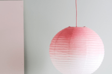 DIY ombre pink paper lampshade