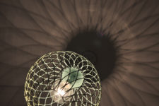 DIY ombre green metal lampshade