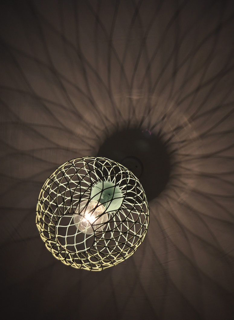 DIY ombre green metal lampshade (via www.seesawstore.com)