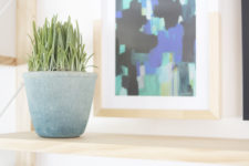 DIY dip dyed ombre planter with a texture and a natural feel