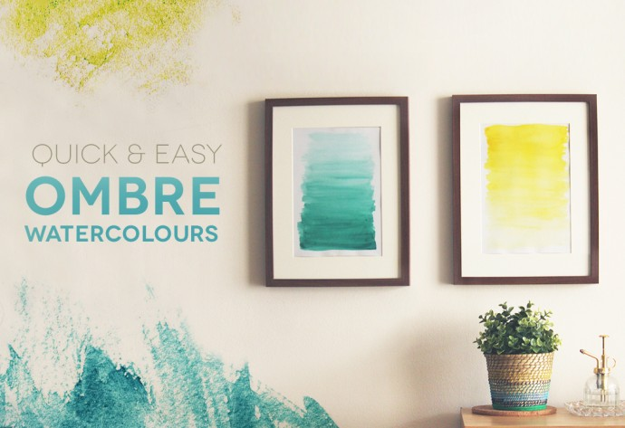 DIY duo of ombre watercolor artworks (via makerssociety.com.au)