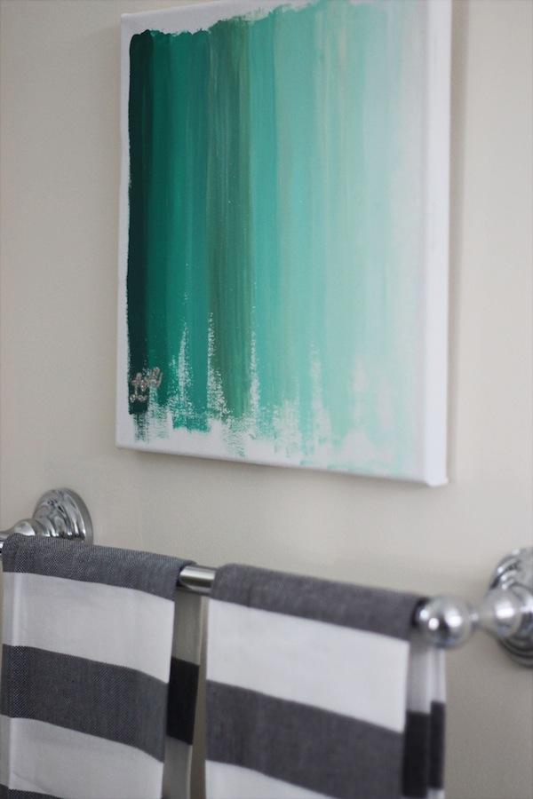 DIY oversized ombre green brushstroke artwork (via www.twodelighted.com)