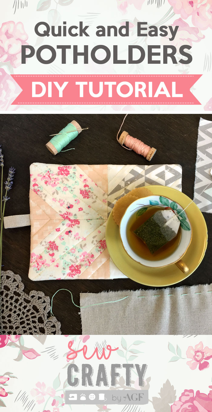 DIY bright and fresh printed potholder (via www.agfblog.com)