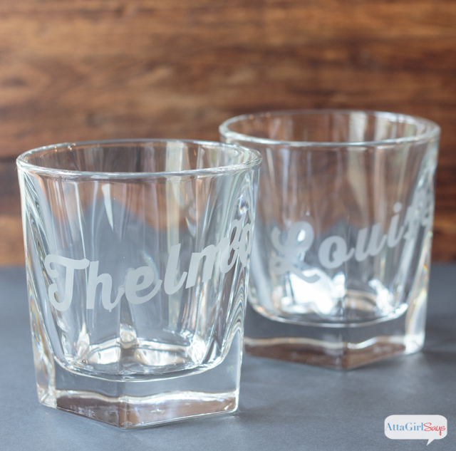 DIY etched whiskey glasses (via www.attagirlsays.com)