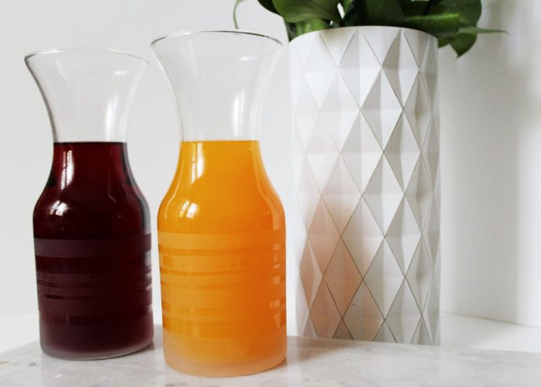 DIY etched glass carafes (via www.aimeemars.com)