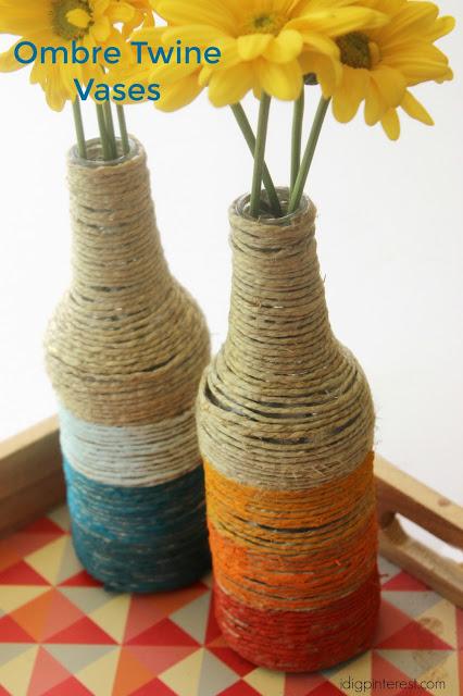DIY ombre twine vases (via www.idigpinterest.com)