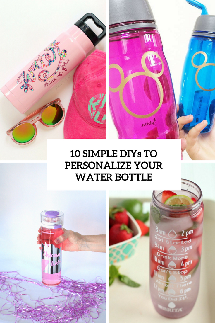simple diys to personalize your water bottle cover