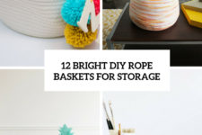 12 bright diy rope baskets for storage cover