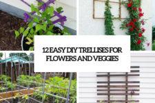 12 easy diy trellises for flowers and veggies cover