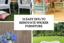 12 easy diys to renovate wicker furniture cover
