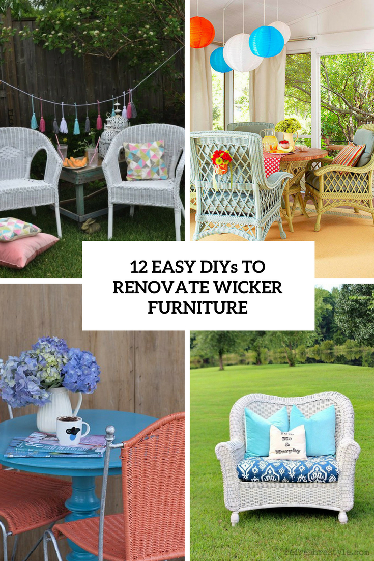 12 Easy DIYs To Renovate Wicker Furniture