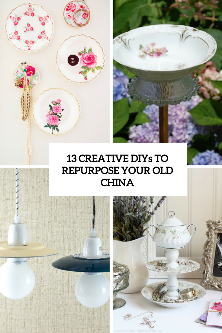 creative diys to repurpose your old china cover