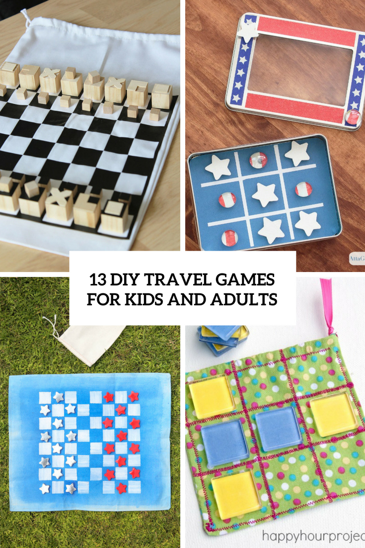 13 DIY Travel Games For Kids And Adults