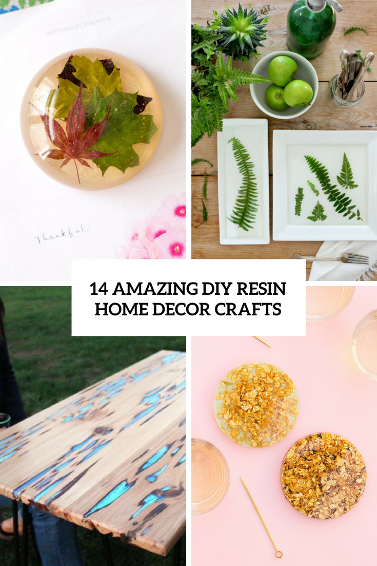 14 amazing diy resin home decor crafts shelterness