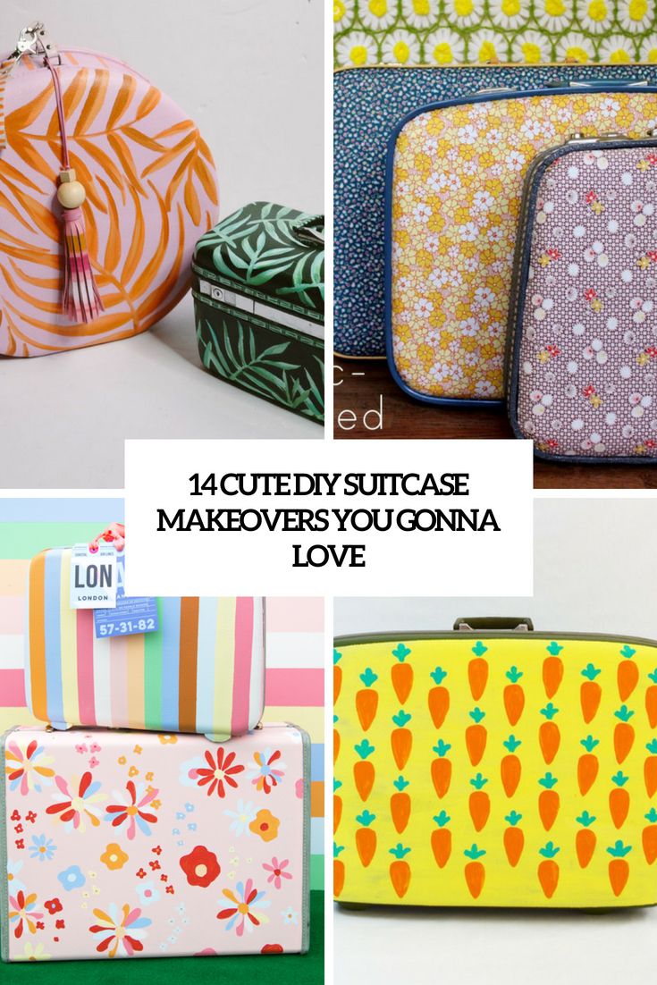 cute diy suitcase makeovers you gonna love cover