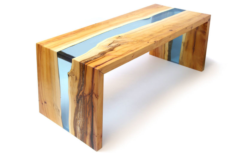 DIY wood and resin table (via www.instructables.com)