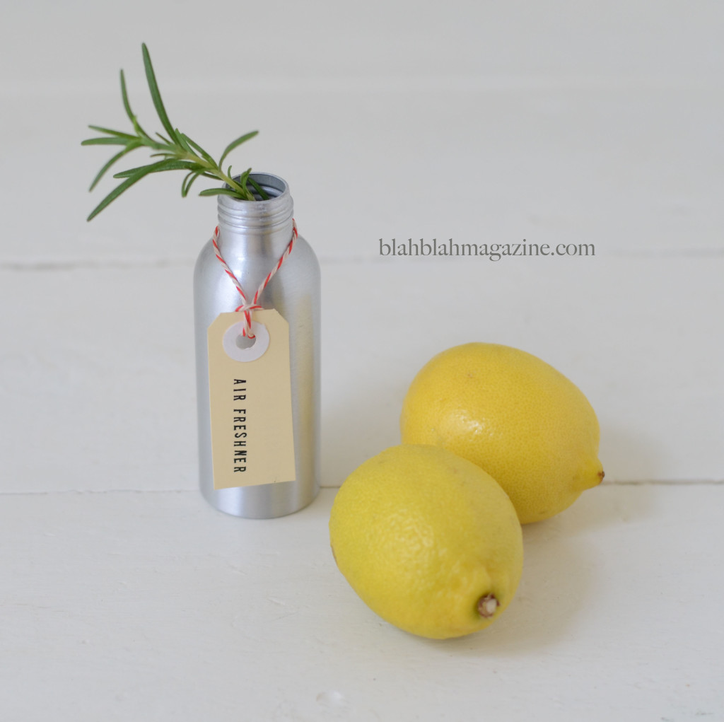 DIY rosemary and lemon air freshener