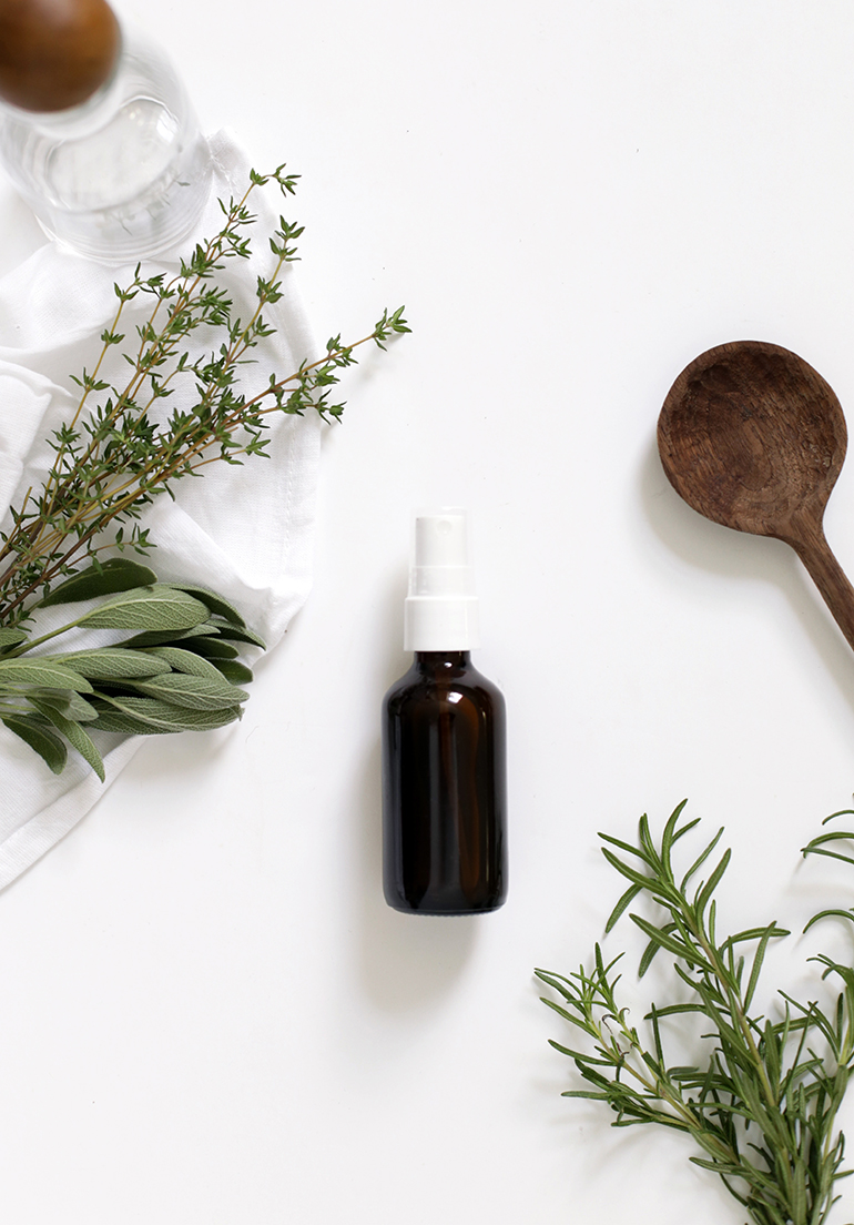 DIY all-natural herbal room spray (via themerrythought.com)