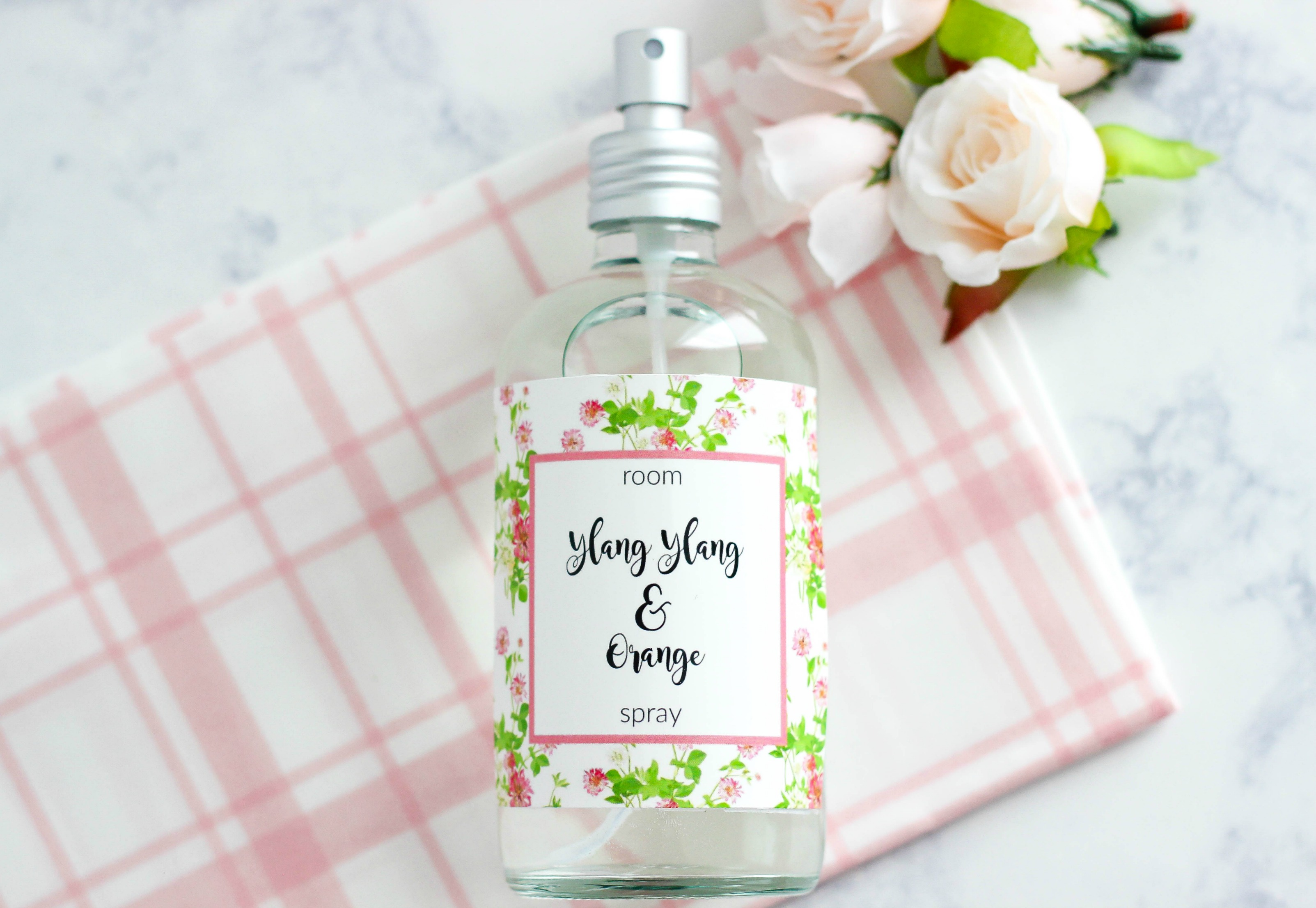 DIY ylang ylang orange room spray