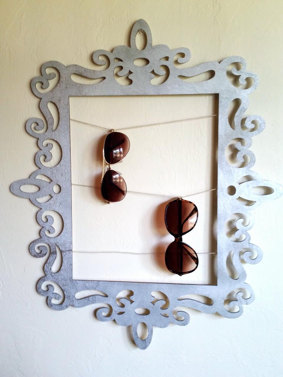 DIY refined picture frame sunglasses holder