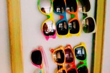DIY framed sunglasses holder